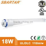 T8 LED Tube, 18W 4ft , 60W Fluorescent Tube Replacement, UL Listed, 4000K, Single-ended power