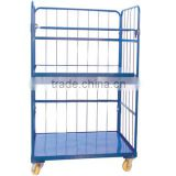 Best selling Folding Warehouse container Trolley/ Roll Wire Mesh Storage Bin