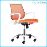 882-3B Mid back mesh metal frame office chair white PP armrest                                                                         Quality Choice