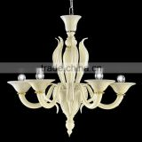 Modern Colored Glass Chandelier Lighting Pendant Hanging Light Fixture 5 Arms LED Suspension Lamp CZ3547/5