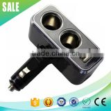 2 way 800mA 12v cigarette lighter plug with USB