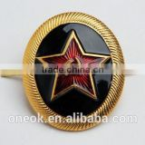 Custom gold Star Russian pin badge, engraved 3d wing metal lapel pins, metal pin badges with butterfly clasp
