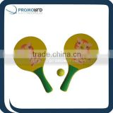 Colorful Printed beach tennis racketbeach racket heat transfer printing paddle racket 2014 new product