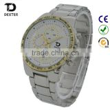 KYT week time easy to read men's chronograph quality japan quartz movt swiming waterproof watch