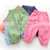 Children elastic waist casual pants breathable summer capris baby harem pants