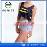 alibaba express turkey fashion girl new fancy tops for GIRL gym tank top with custom printed logo