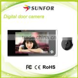 3.5 Inch Color Screen Plastic Smart Home Door Security System Wireless with 4pcs AAAA Batteries