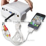 Newest Smallest TV USB AV HDMI VGA Home Theater Portable Digital LCD Gobo Game Star Mini 3D LED Video Projector