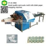 Good quality semi-auto multi rolls toilet paper wrapping machine                                                                                                         Supplier's Choice