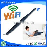 2.4G 5.8G rubber duck 5db wifi dual band antenna with ipex connector and 1.13 cable