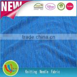 china supplier 100% polyester fabric thick needle fabric knit fabric for knitted shirts fabric