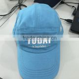100% cotton emboridered logo multi panel women sports cap summer cap golf cap baseball cap and hat with mesh vent panel