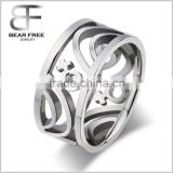 Womens Stainless Steel Female Symbol Icon Pierced Rings Silver