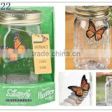 Solar flying butterfly decorative glass jar/Solar toys/butterfly gifts SO6222