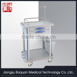 Two drawers plastic-steel columns with one dust baskets medium size ABS treatment trolley