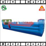dual-lane inflatable bungee run basketball hoops