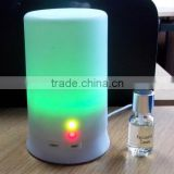 Whlte pillar shape plastic utrasonic essential oils electric candle light aroma diffuser