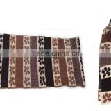 WLDL-R1454 100%Acrylic brown fan knitted jacquard pattern men's knitting muffler scarf