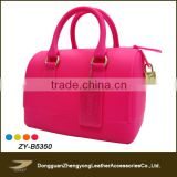 ladies candy color transparent silicon handbags(ZY-B5350)