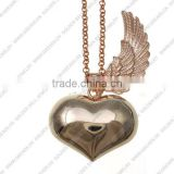 2015 Wholesale angel sound bell pendant, angel wing heart pendant for woman and kids