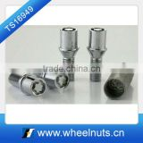Concave patten wheel lock bolts