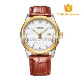 HOT SELLING!FAMOUS Brand WEIDE Luxury Rose Gold Genuine Leather Sports Quartz Men Watch 93011R