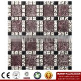 IMARK Mixed Color Crystal Glass Mosaic Tiles with Electroplated Mosaic Tiles and Goldleaf Mosaic Tiles Code IXGM8-095