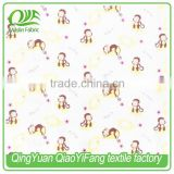 MOF019 High quality, cute monkeys printing gauze fabric for baby, 100% organic cotton