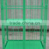 RH-RC011 1100*800*1700mm powder coated Supermarket cargo storage roll container roll trolley for warehouse roll container