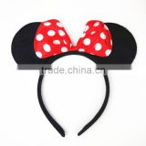 Hot Selling Cheap Plush Mickey Mouse Ears Headband For Baby Girls