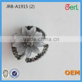 New!!!Beautiful Hotsale Flower-shaped Crystal Cat's Eye Stone Rhinestone Button for Garment Decoration