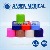 Factory support medical supply self cohesive elastic bandage with FDA certification