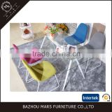 Hot Sale Simple Design Dining Set Clear Glass Dining Table and PU Dining Chair