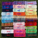 Wholesale 1.5/2.75 inch crochet headband for baby girls in stock 30 colors eco-friendly baby headband crochet hairband