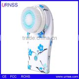 New China Cheap OEM Waterproof Face Skin Cleansing Brush Machine Rechargeable Ultrasonic Electric Facial Brush For Exfoliating