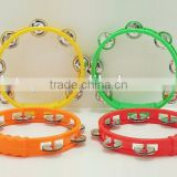 Hand bell for school Hand Bell Toy New Design Tambourine Colorful timbrel