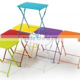 Protable home&garden furniture kids cheap steel space saving small extendable folding side dining/coffer/picnic/camping table