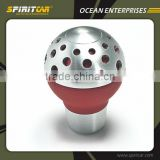 Fashion Design Red Leather Aluminium Alloy Gear Shift Knob