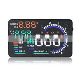 A8 Hud Head Up Display with OBD2 Interface Plug Play KM/h MPH Speeding Warning
