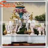 Manufacturing latest design of stone statue artificial fiberglass statue decorative animal statue