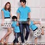 high quality star printed blue family t shirt sets dress set family love clothing sets