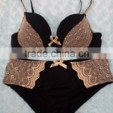 lace mesh on full cup bra and brief sets special techniced straps new sanhui Underwear OEM service