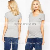 Women slim fit scoop neck maternity tee shirt wholesale blank maternity nursing t shirts
