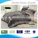2013 Hot Sale 50'' * 70'' 100% Polyester Super Cozy Warm Bed Size Coral Rotary Zebra Horse Print Fleece Blanket