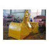 Construction Equipments Excavator Clamshell Hydraulic Grab Bucket Customized Color