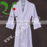 pure white 100% cotton hotel bathrobe nightgown