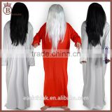Halloween Ghost Cosplay Long Solid Color Dress 70cm Wig Costume Suit