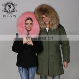 2017 new arrival winter warm thick raccoon hair hooded cheap faux fur coat