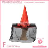 Halloween decoration minneapolis felt polyester conical witch hat veil decorated