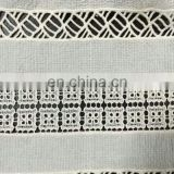 cutting cotton fabric lace used on garment